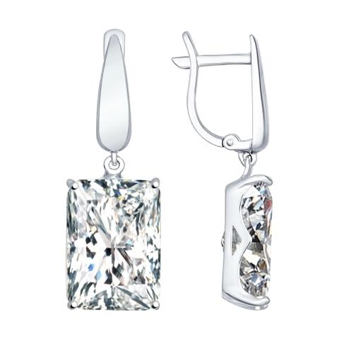 94022279 -Серьги из серебра с крупными камнями