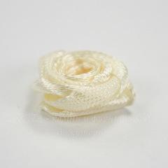 Роза атласная кремовая 15 мм, 5 штук