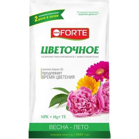Bona Forte удобрение комплексное гранулированное с микроэлементами Цветочное 1кг