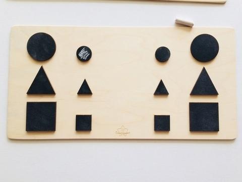 Трафареты графомоторные Форма для одновременного рисования двумя руками Сенсорика