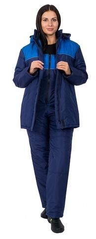 Куртка Снежана(тк.Таслан), т.синий /васильковый