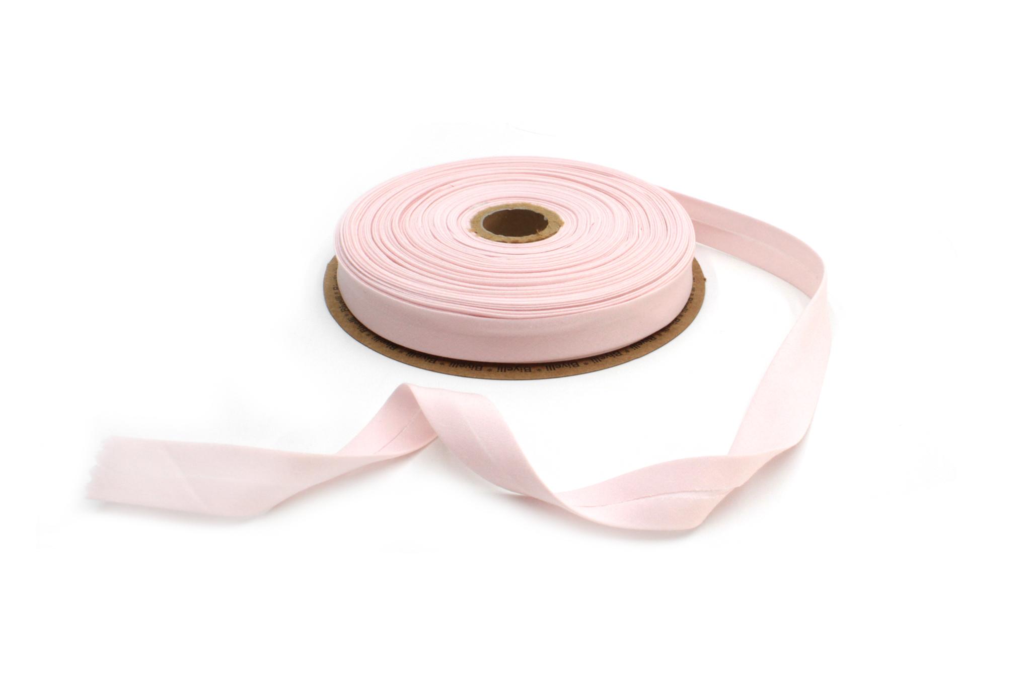 Бейка косая х/б,20 мм, бледно-розовый