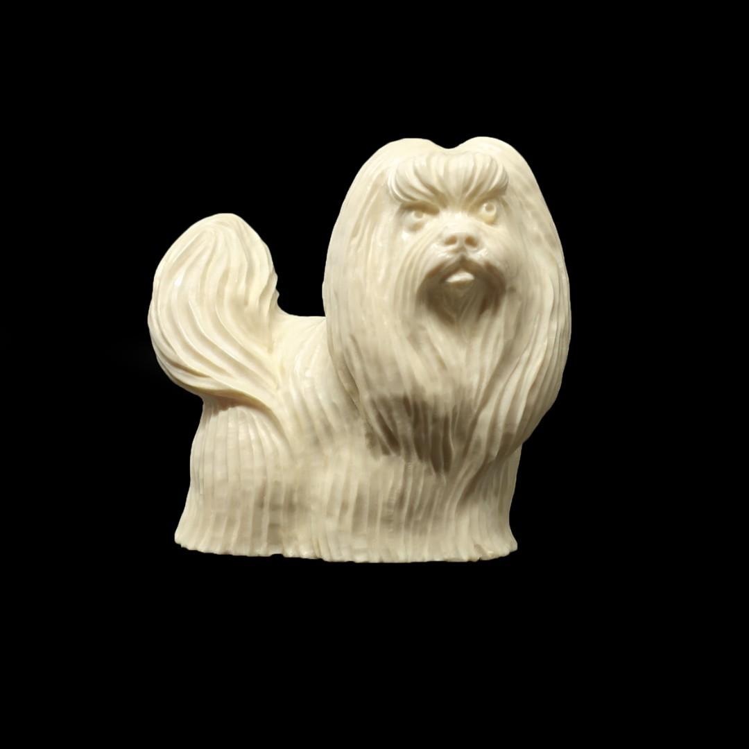 статуэтка собаки ши-тцу из бивня мамонта