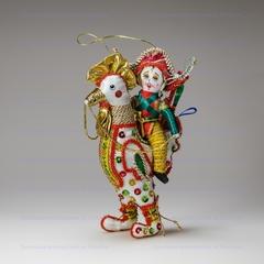 Игрушка текстильная Солдат на петухе