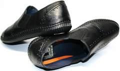 Мужские туфли мокасины Luciano Bellini 107607 Black.
