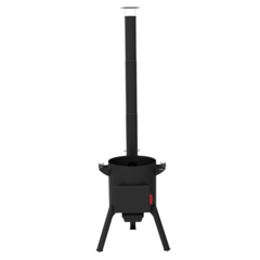 Печь с дымоходом для казана Берель 480К на 22-30л