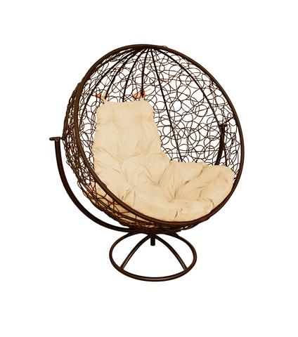 Кресло вращающееся Milagro brown/beige
