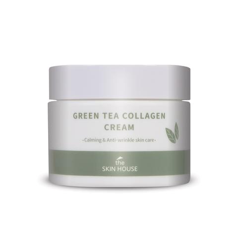 Успокаивающий крем для лица на основе коллагена и экстракта зелёного чая