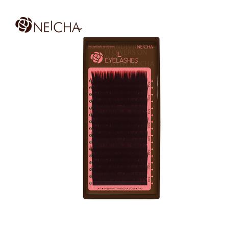 Ресницы NEICHA нейша MIX 16 линий L-straight темно-коричневые