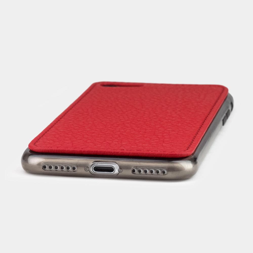 Чехол-накладка для iPhone 8/SE из натуральной кожи теленка, красного цвета