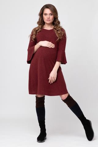 Платье для беременных и кормящих 09076 бордовый