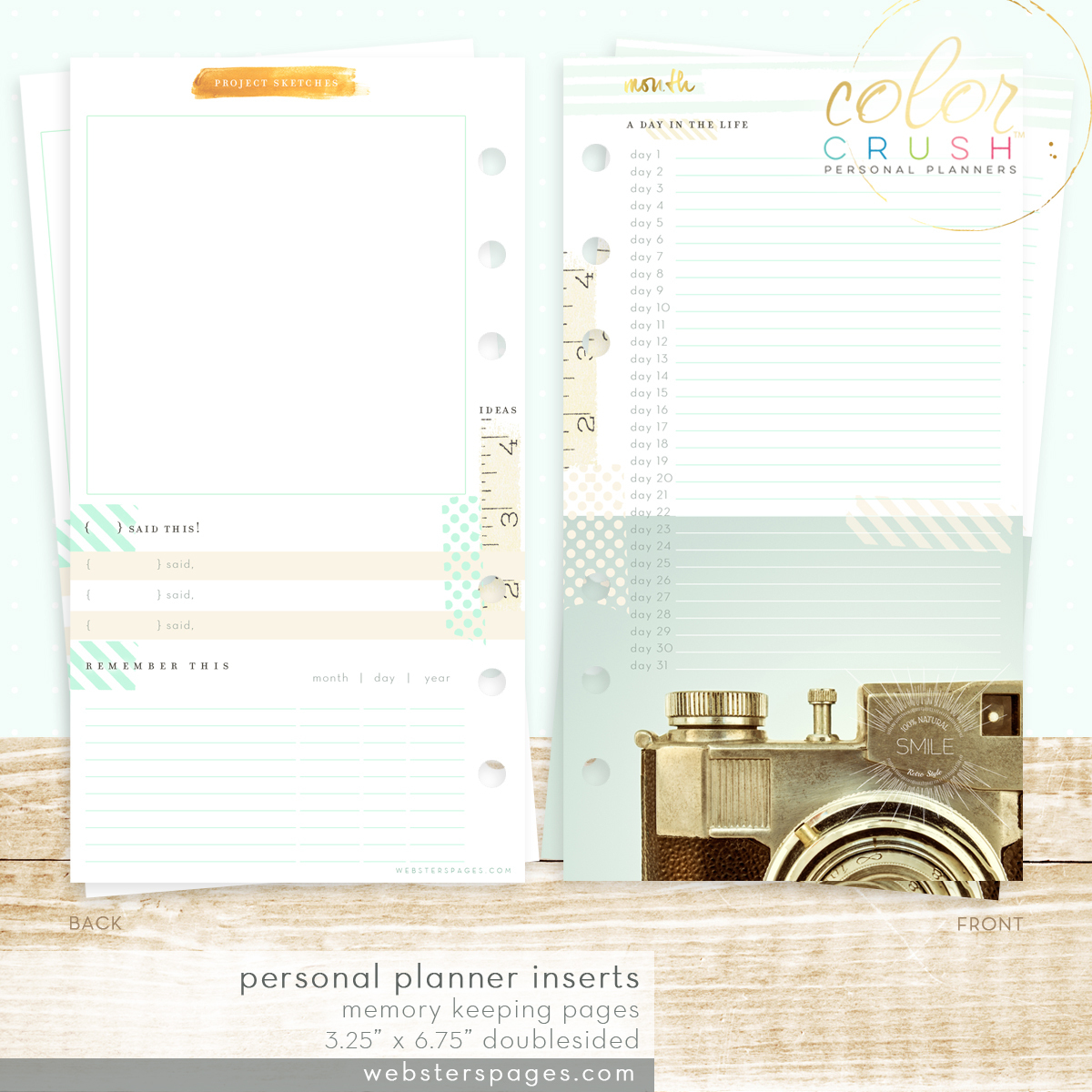 Планер PERSONAL PLANNER KIT  by Websters Pages -С наполнением -Sky Blue