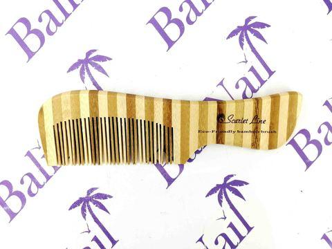 Гребень для волос (бамбук) с ручкой, 18 см, 93490