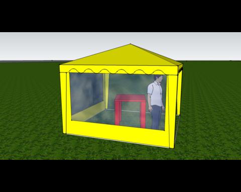 Стенка с окном (к шатру Митек 3 х 3  и  6 х 3)