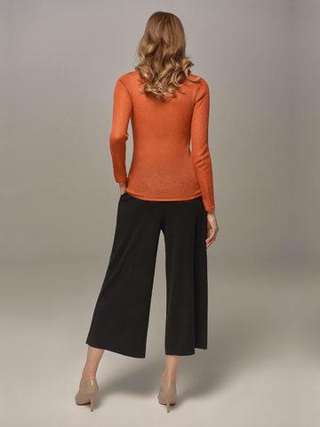 Женские брюки черного цвета из шерсти и кашемира - фото 3