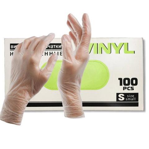 Перчатки виниловые ПЕР224