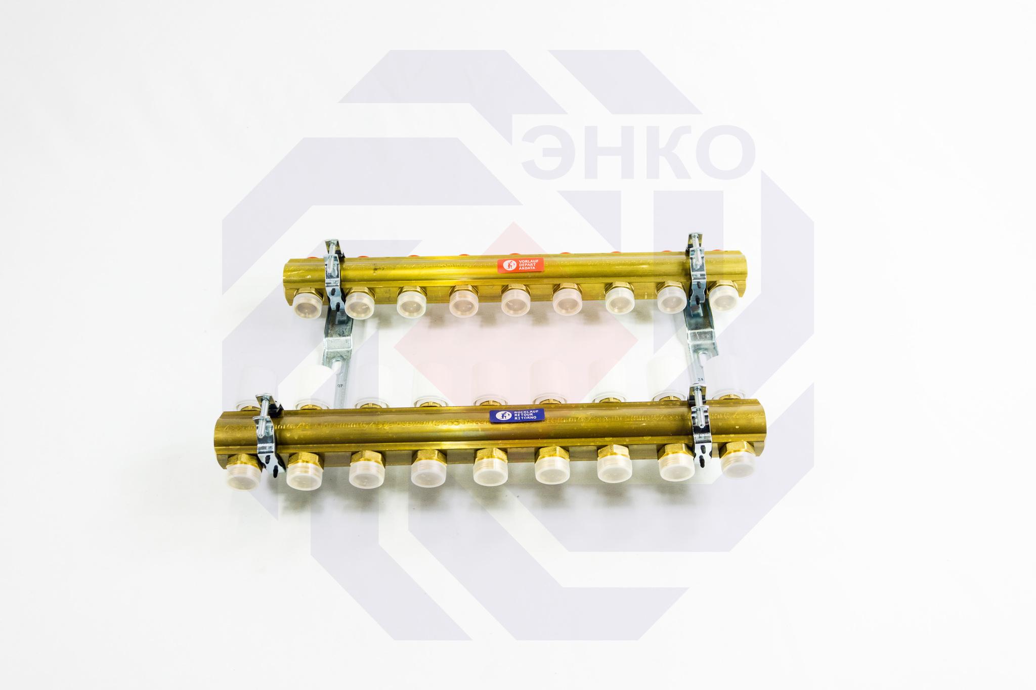 Комплект коллекторов без расходомеров GIACOMINI R553E 9 контуров