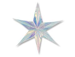 Звезда 6 конечная, перламутр 60см, 1 шт.
