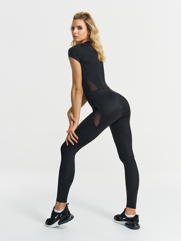 Комбинезон для йоги c коротким рукавом