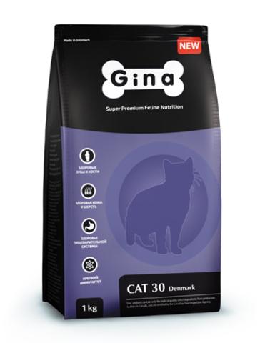 ДЖИНА DENMARK -30 Корм для Взрослых кошек 18 кг (мешок)