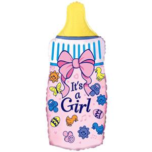 Фольгированный шар Бутылочка Это девочка 88 x 43см