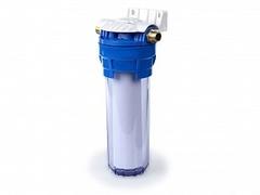 """Фильтр Гейзер 1П 1/2"""" (8) прозрачная колба, мех.5мкм, пластмассовая скоба, ключ), арт.32007"""