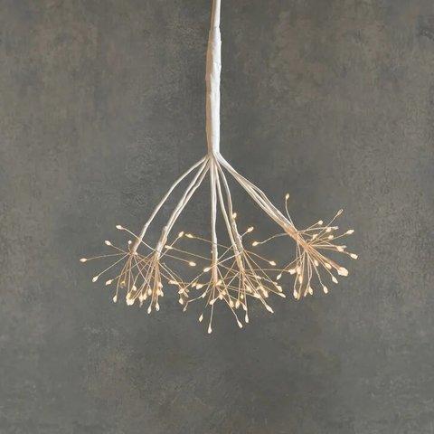 Подвесной одуванчик с лампами теплого белого света, для наружного и внутреннего использования