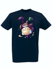 Футболка с принтом Мой сосед Тоторо (Totoro) темно-синяя 006