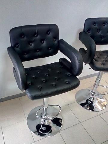 Ножка (основание, каркас) барного стула в сборе, газлифт, на базе D-450 мм, регулировка высоты 56-76 см, вращение 360°, хром