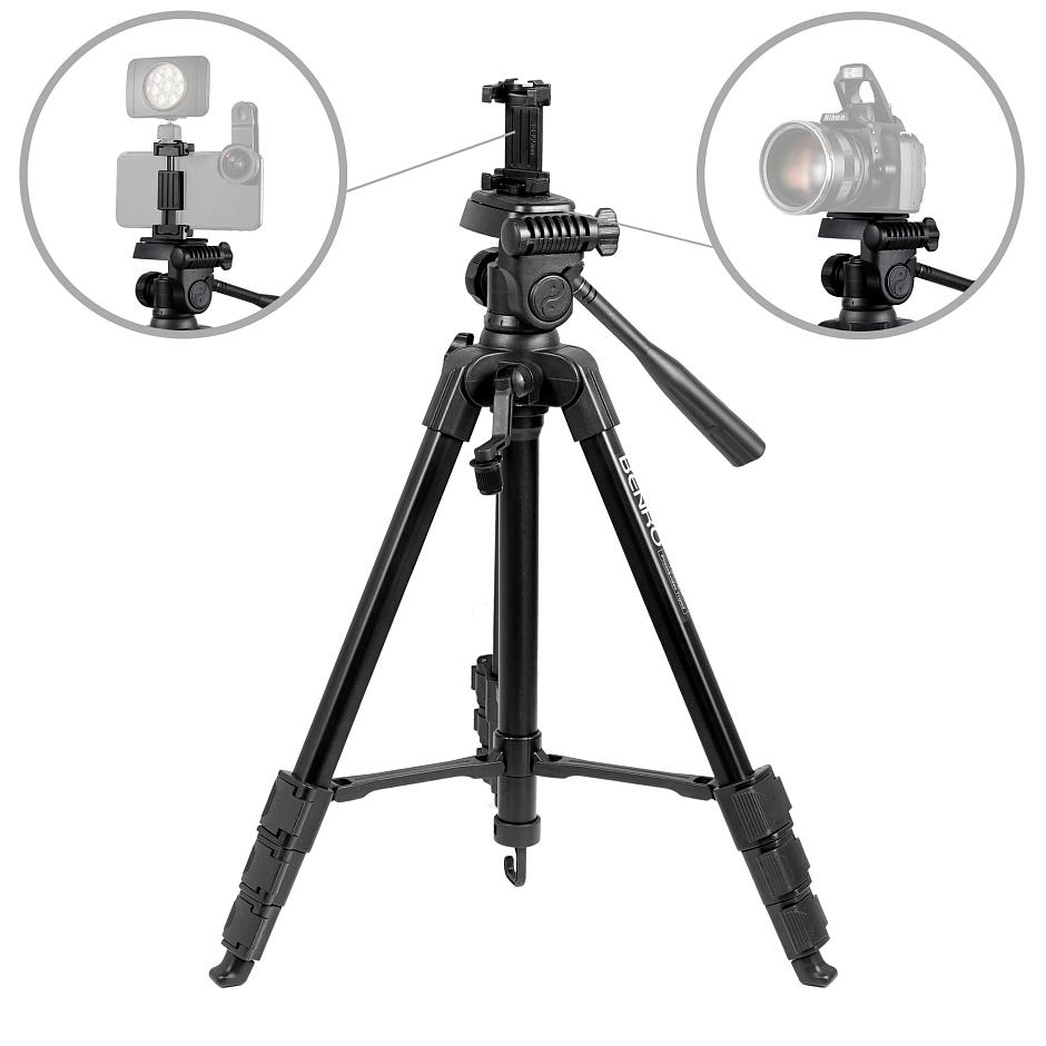 Benro T660EX+MH2N штатив c фото-видео головой и держателем для смартфона
