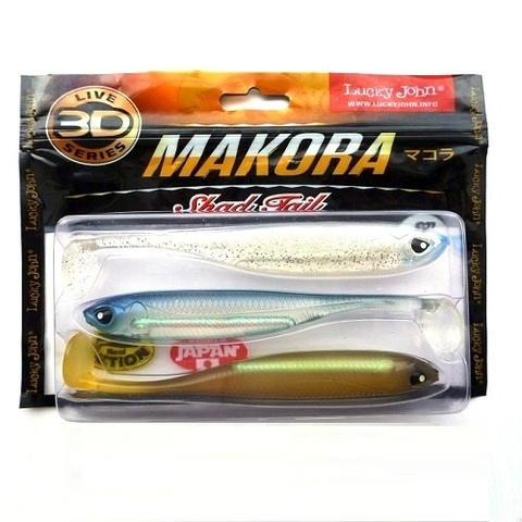 Виброхвост LJ 3D Series Makora Shad Tail 6.0in (15.24 см), цвет MIX1, 3 шт.