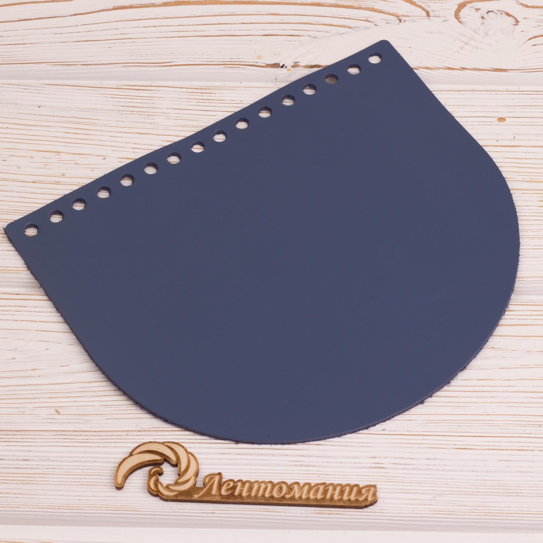 "Вся фурнитура Клапан для сумочки кожаный ""Синий"" 19*16 см IMG_4347.JPG"