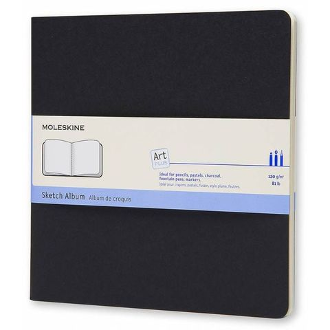 Блокнот для рисования Moleskine CAHIER SKETCH ALBUM ARTSKA5 190x190мм обложка картон 88стр. черный