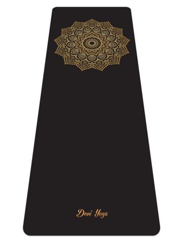 Каучуковый йога коврик Golden Sun с разметкой 185*68*0,4 см