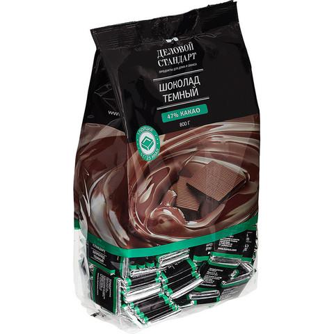 Шоколад порционный Деловой Стандарт темный 47% (160 штук по 5 г)