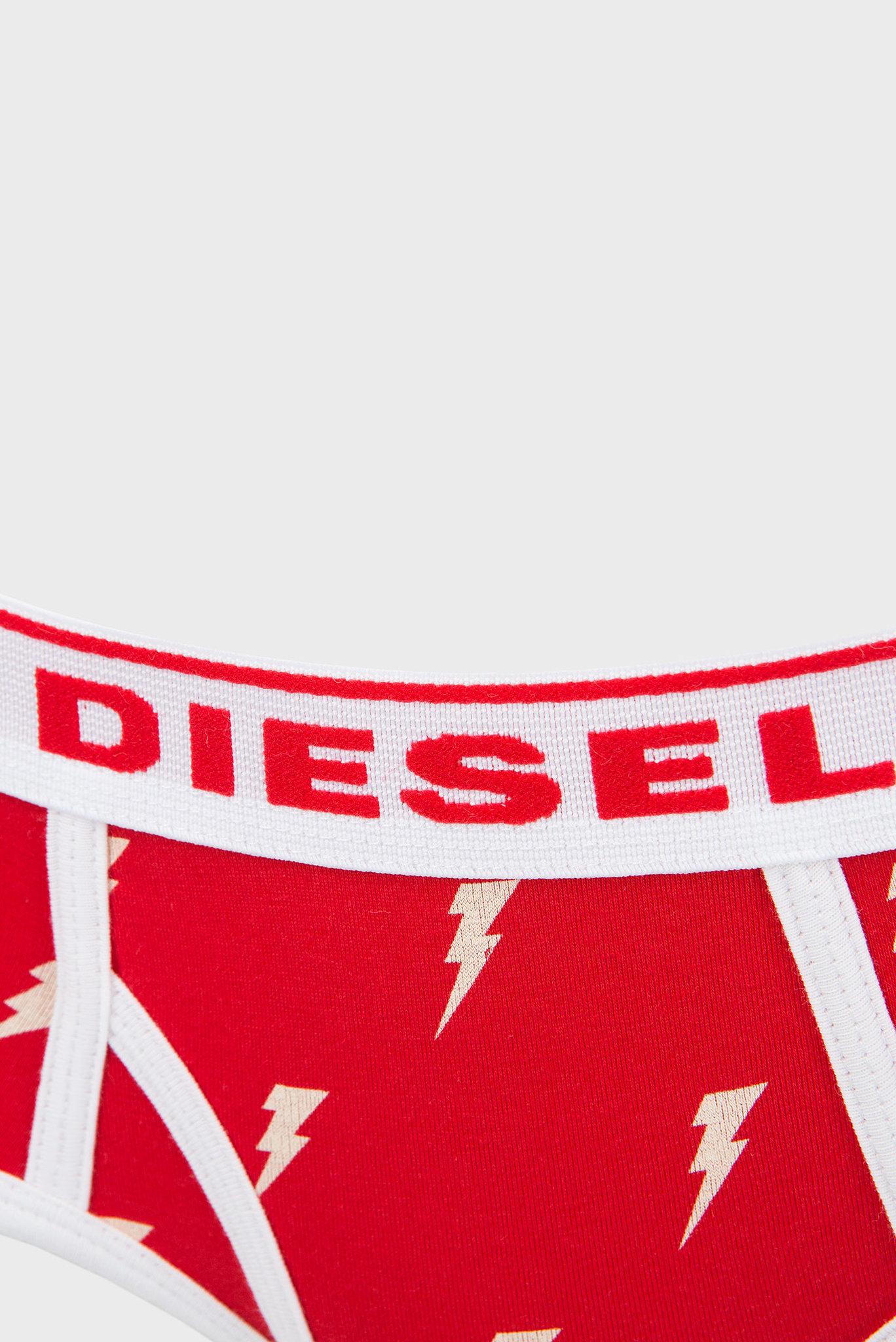 Женские красные трусики с принтом Diesel