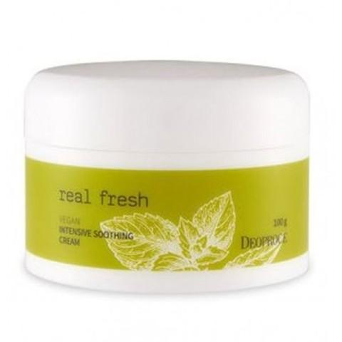 Увлажняющий крем-гель для лица Real Fresh Vegan Intensive Soothing Cream