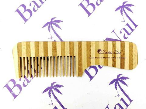 Гребень для волос (бамбук) с ручкой, 18,5 см, 93491