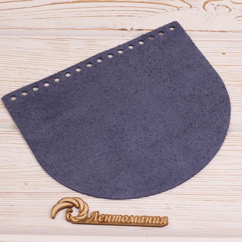 """Клапан для сумочки кожаный """"Синий"""" 19*16 см"""