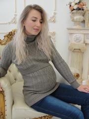 Джемпер для беременных и кормящих цвет кофе