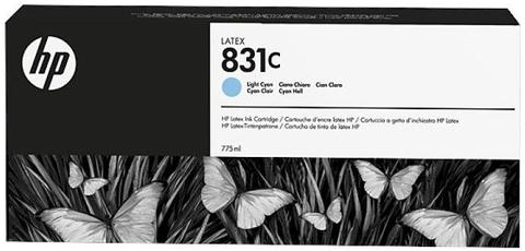 Картридж HP № 831, Light Cyan, 775 мл, CZ698A
