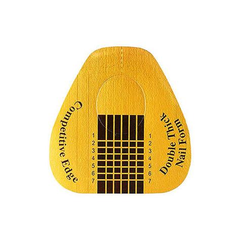 Формы для наращивания ногтей золото (широкие), 500шт. в рулоне