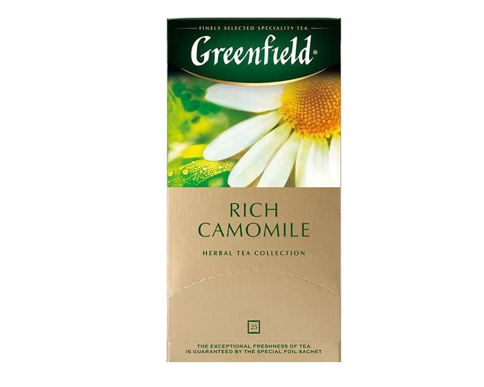 купить Чайный напиток в пакетиках из фольги Greenfield Rich Camomile, 25 пак/уп