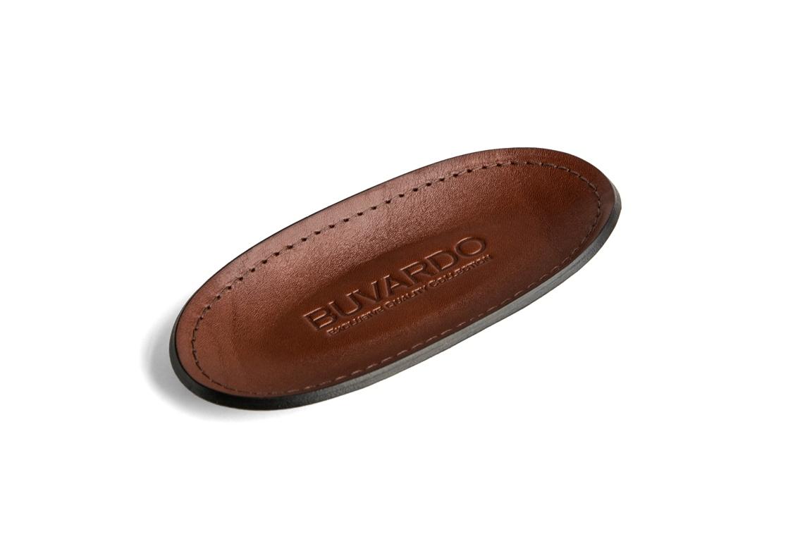 лоток для мелочей BUVARDO PREMIUM из кожи Full Grain Toscana/Cuoietto шоколад