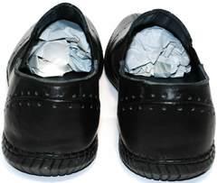 Кожаные спортивные туфли Luciano Bellini 107607 Black.