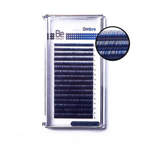 Цветные ресницы Be Perfect Ombre Blue MIX (16 линий)