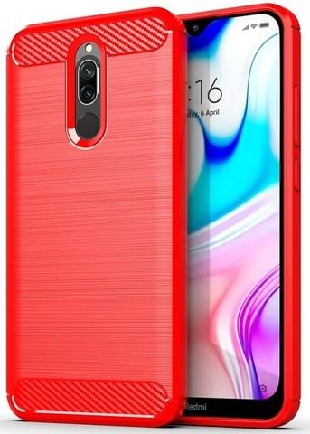 Carbon / Чехол для Xiaomi Redmi 8/8A серия Карбон | красный