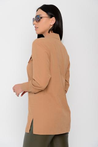 """<p>Модная рубашка """"Лиссабон"""" -удобна и практична, позволяет создавать различные стильные образы на каждый день. Модель выполнена из плательной ткани - иммитация замши!</p>"""