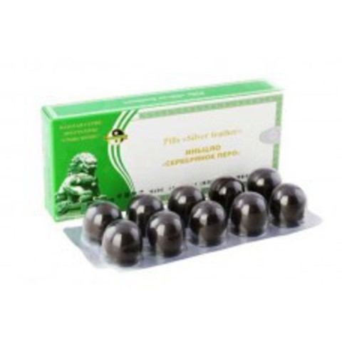 Пилюли  «Серебряное перо» с противовоспалительным действием - Ли Вест | Li West