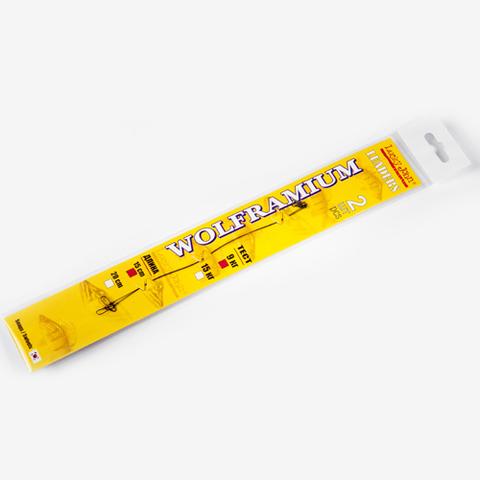 Поводки вольфрамовые Lucky John нагрузка 15 кг, длина 15 см, уп. 2 шт.